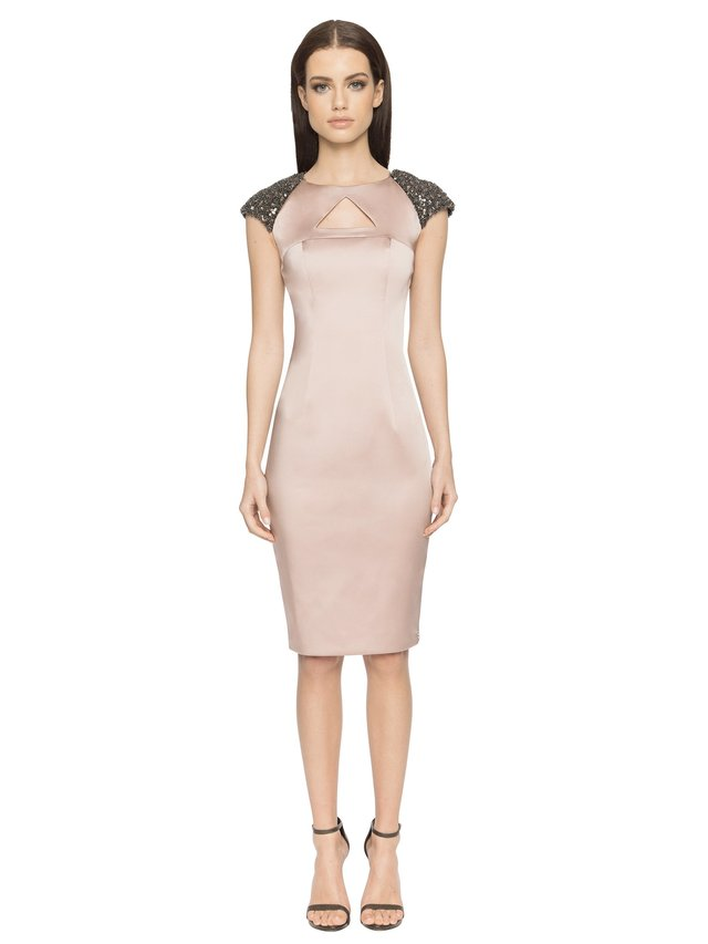 Aloura London Arlington Dress - Dusty Pink