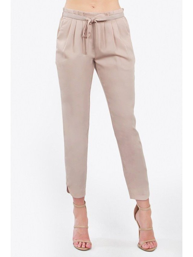Arcade Attire Pleated Trouser Pants - Sand