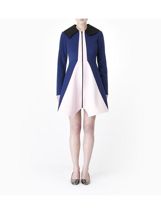 Sarah Bond Bo Bardi Navy Pink Coat