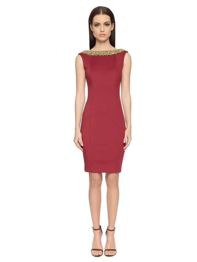 Aloura London Chelsea Dress - Dark Red