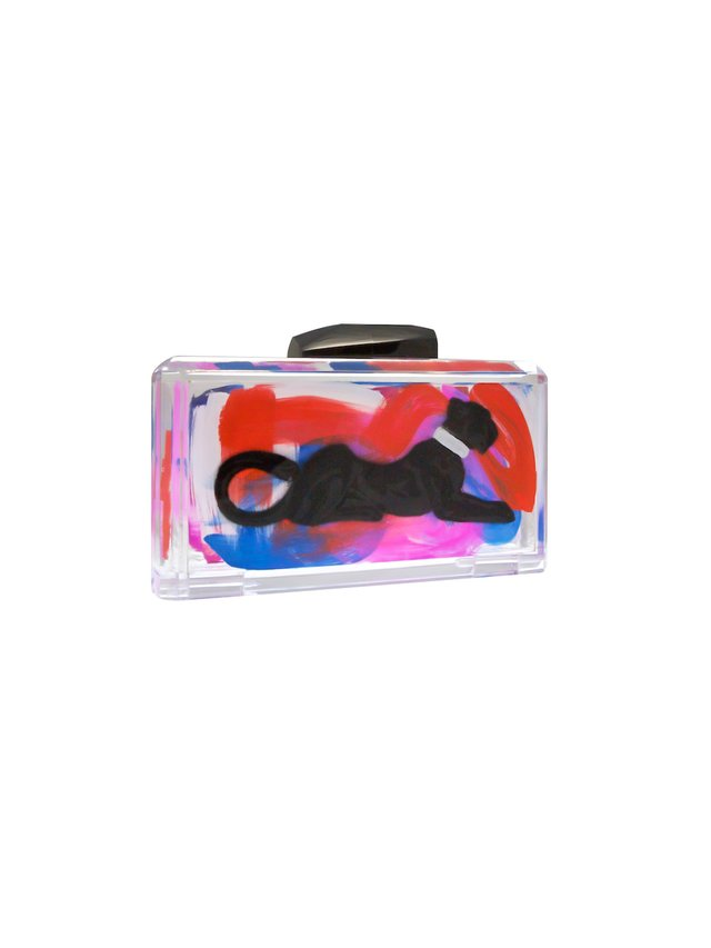 Stefanie Phan Whichever Way You Look At It Panther Acrylic Clutch Graffiti Bag