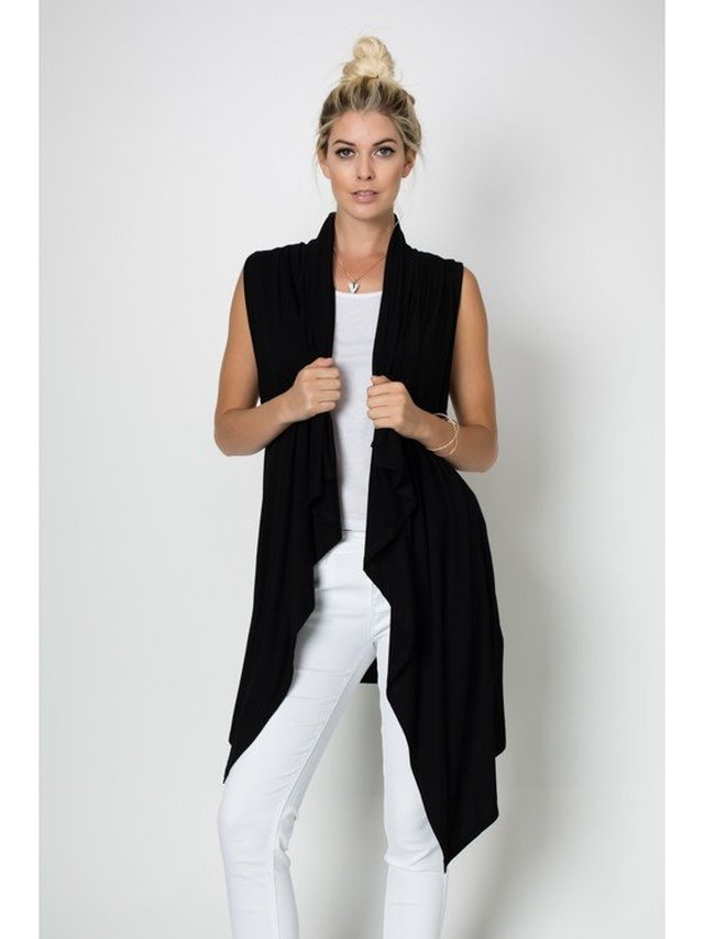 Arcade Attire Sleeveless Front Drape Vest