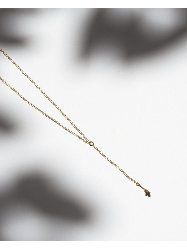 Fire & Honey Lariat Cross Necklace
