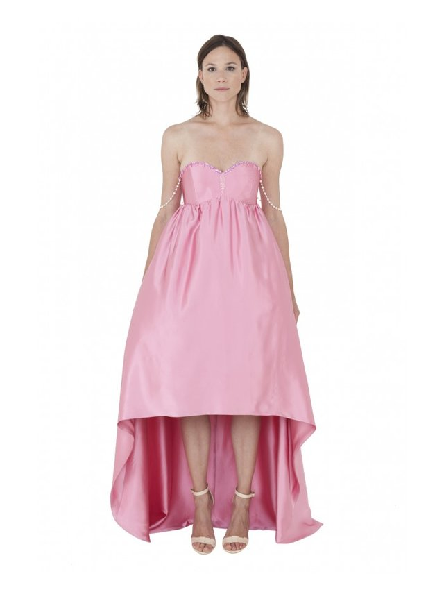LIZA VETA IMPERIAL SILK EMBROIDERED GOWN