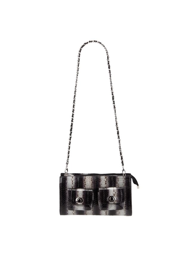Kari C.  Celine snakeskin shoulder bag