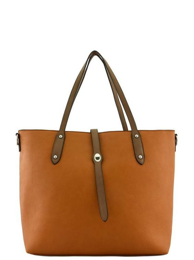Arcade Attire Leather Handle Tote Bag - Brown