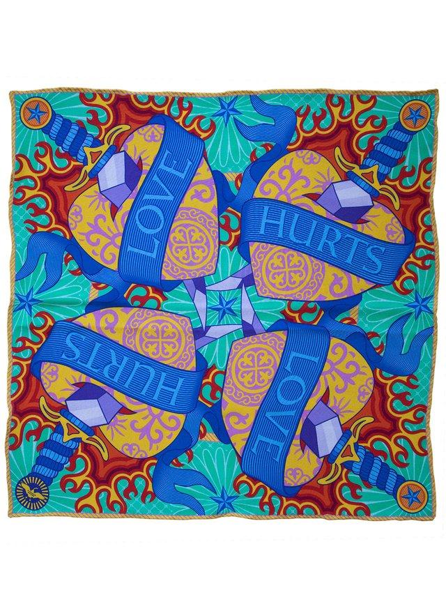 Furious Goose Love Bloody Hurts – Silk Pochette Tutti Frutti