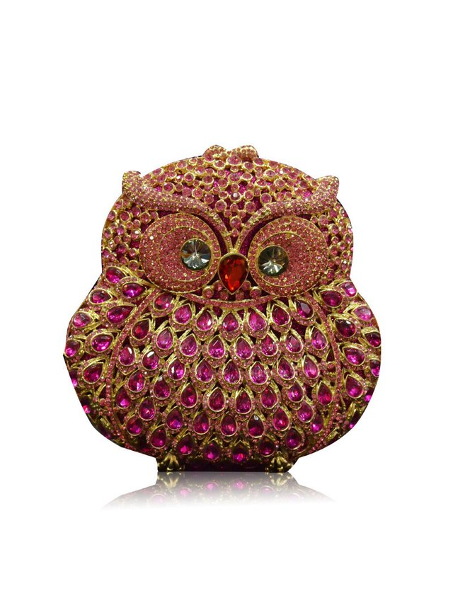 Milanblocks Owl Crystal Evening Clutch