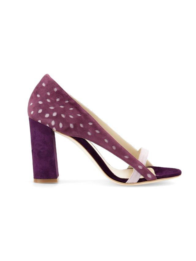 Aksha Fernandez Venus Aubergine Sandals