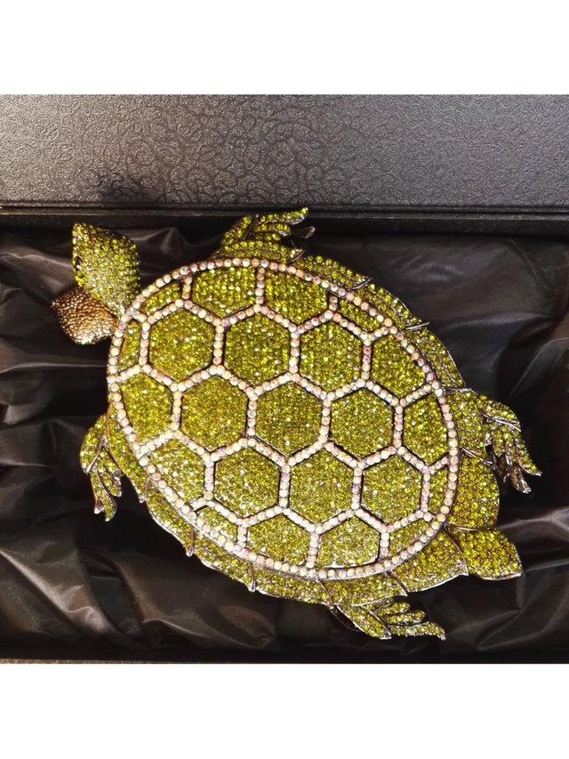 Milanblocks Tortoise Green Minaudiere Clutch