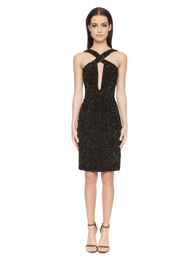 Aloura London Estelle Dress - Black Sequin