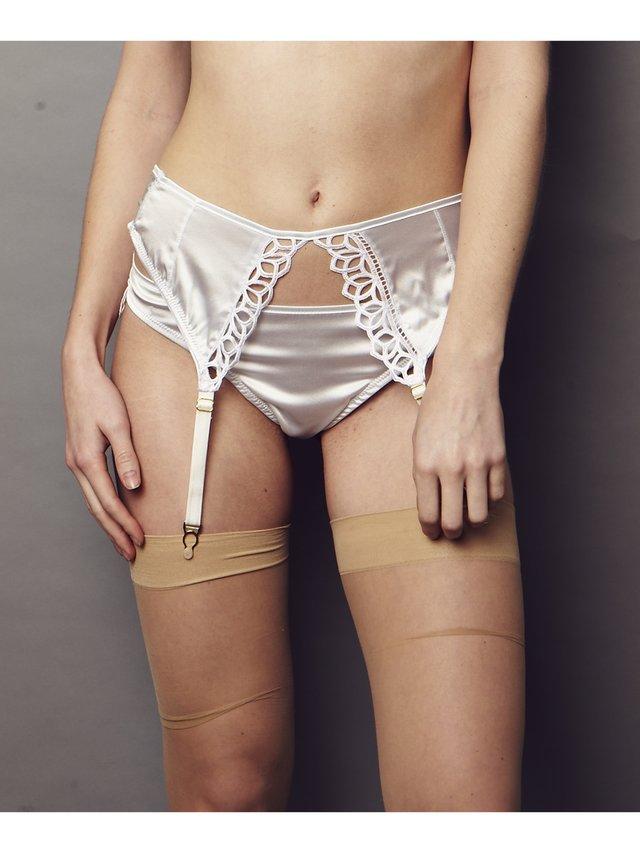 NightProwl Elysium Lace Suspender Bridal