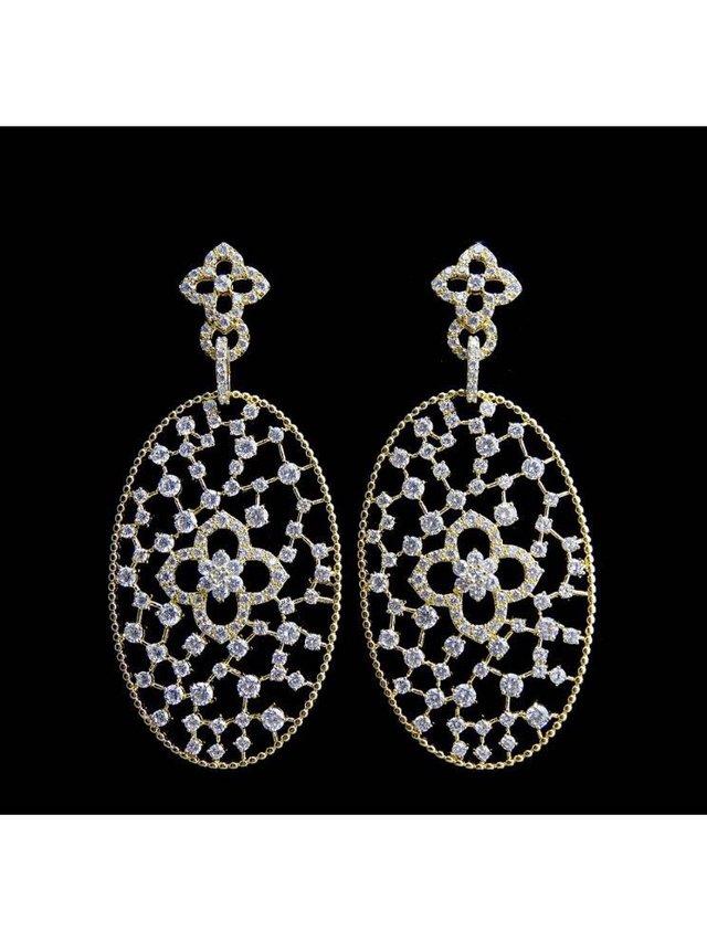 Kari C.  Chandelier earrings