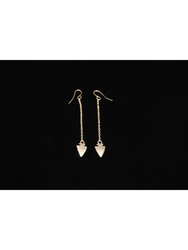 Kemi Designs Arrow Head hanging earrings