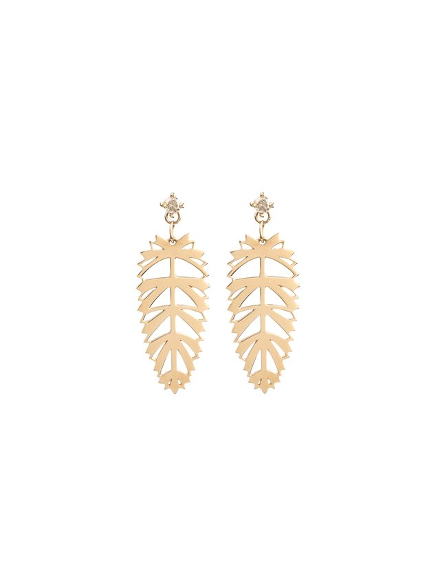 Afew Jewels Palmera Gold Earring