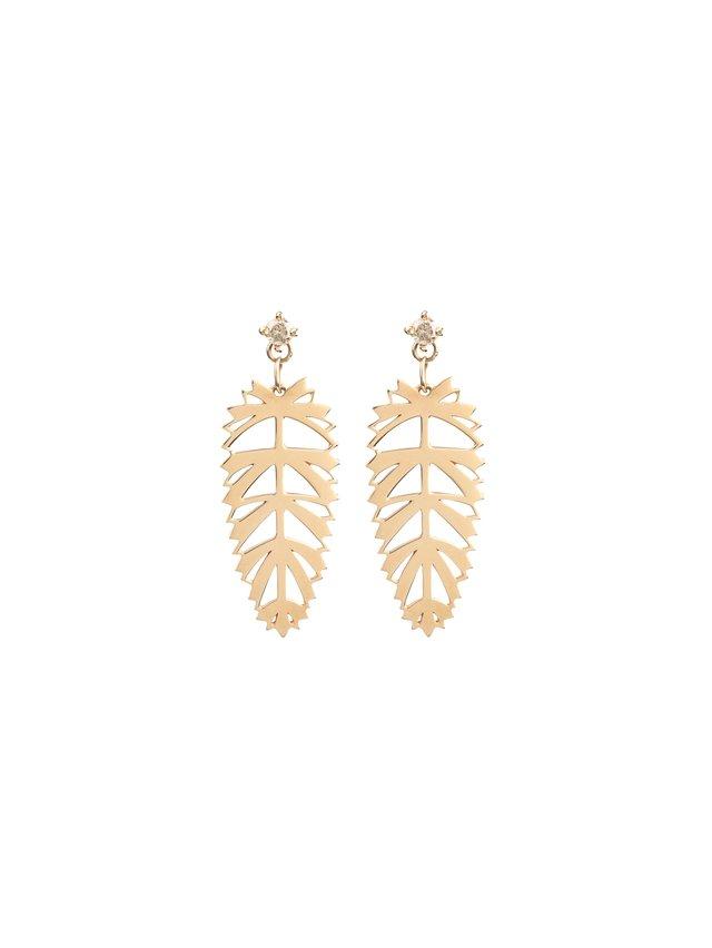 Afew Jewels Palmera Gold Earring