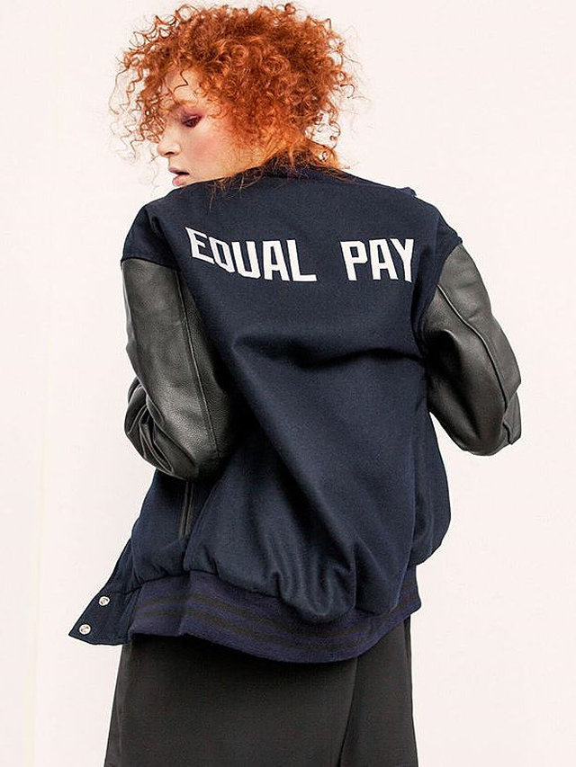 Hilary MacMillan Equal Pay Varsity Jacket