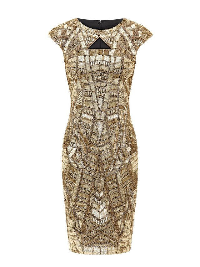 Aloura London Arlington Dress - Gold