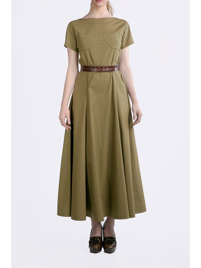 HB by Hanna Baranava Green Long Dress