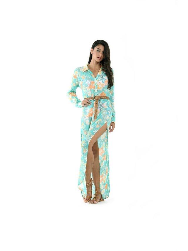Tulle & Batiste Camelia Kaftan Turquoise