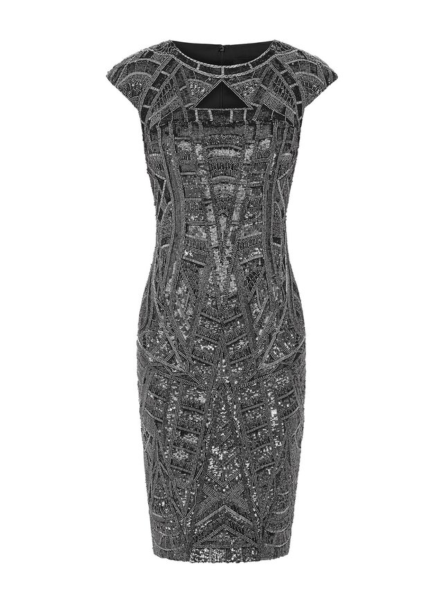 Aloura London Arlington Dress - Graphite