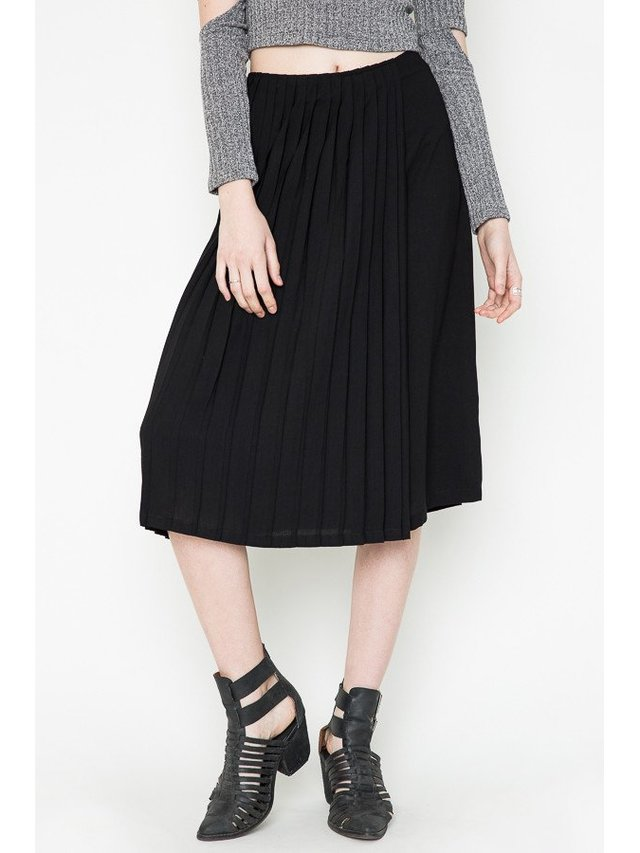 Arcade Attire Pleat Skirt - Black