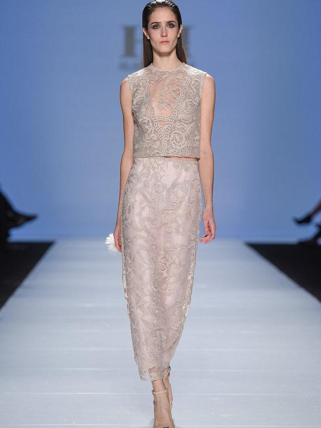 Hilary MacMillan Lace Straight Skirt