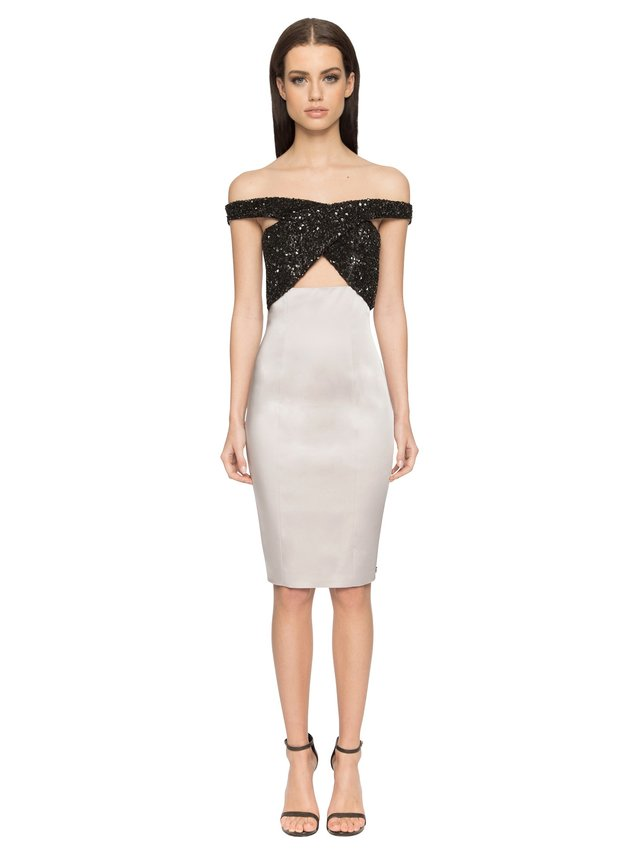 Aloura London Phoenix Dress - Silver