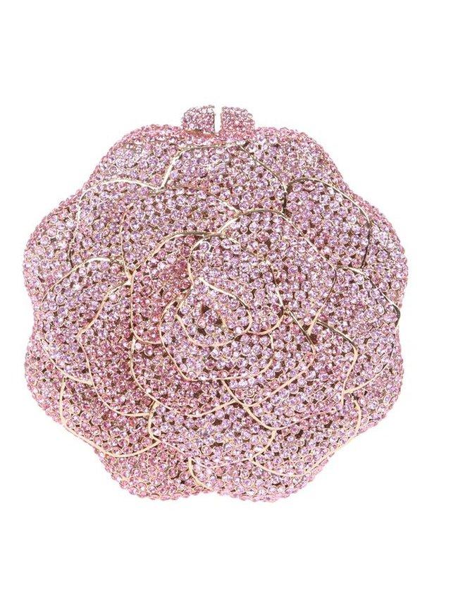 Milanblocks Crystal Rose Evening Clutch