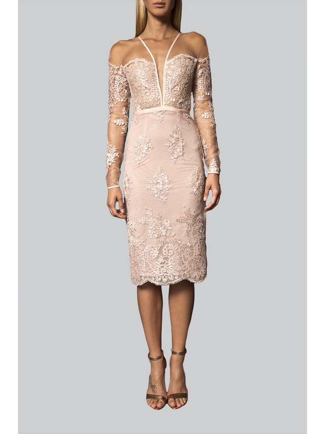 Narces Lace Midi Dress