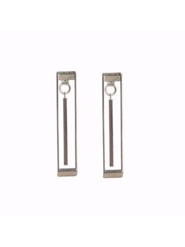 Monoxide Style Geometrix Earring - Silver