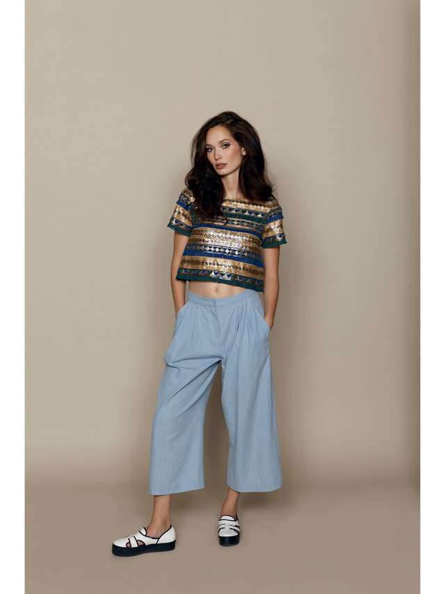Hilary MacMillan Denim Culottes