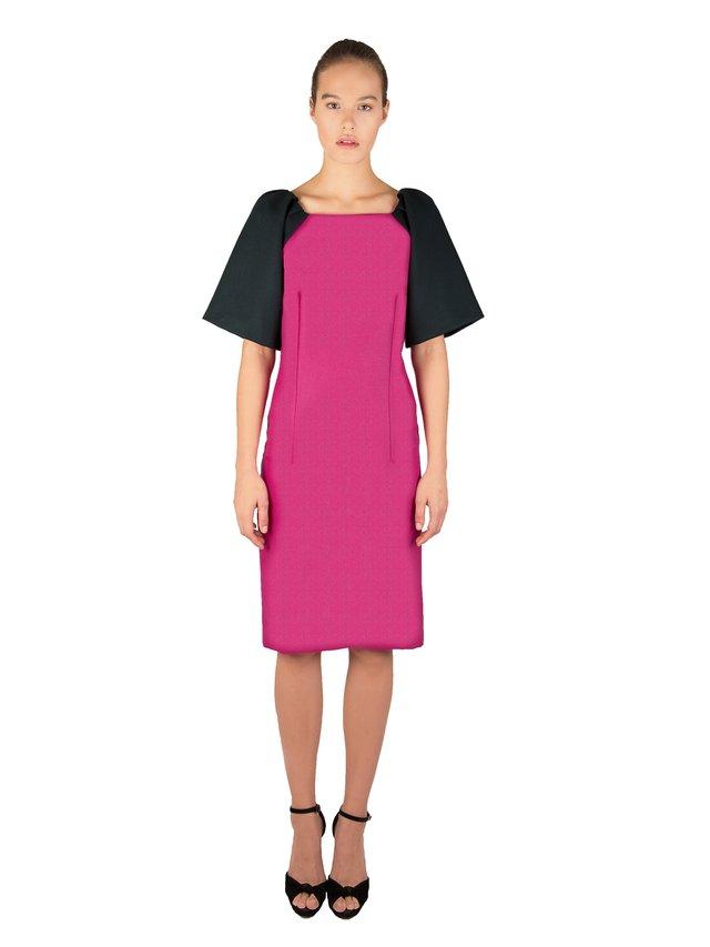 LIZA VETA Magenta Merino Wool Dress