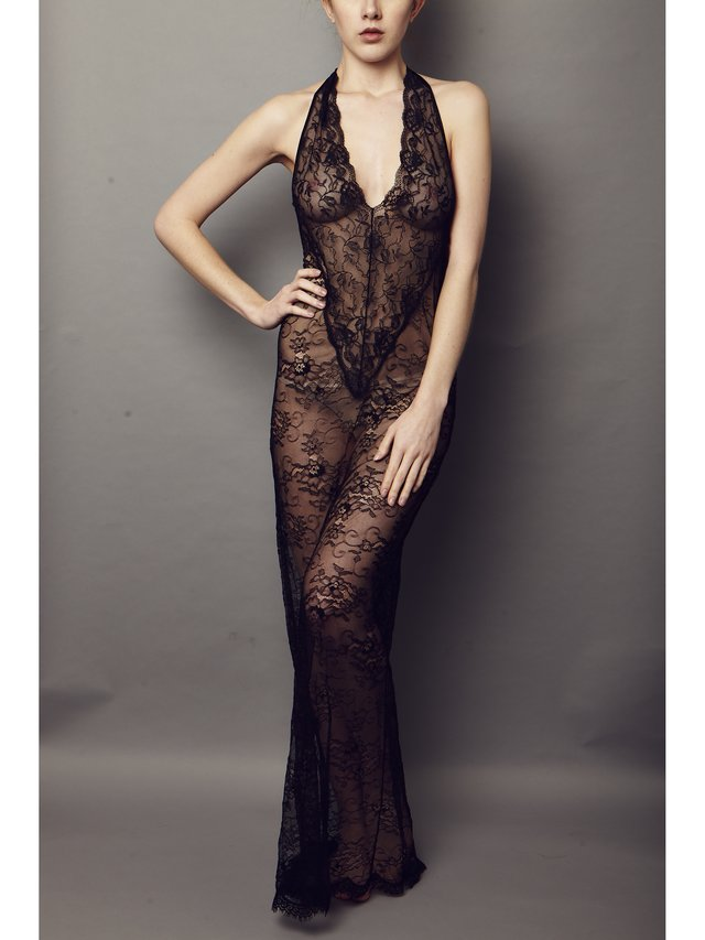 NightProwl Jet Lace Dress