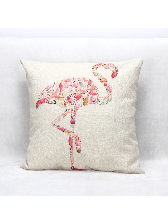 Arcade Attire Tropical Flamingo Cushion Cover