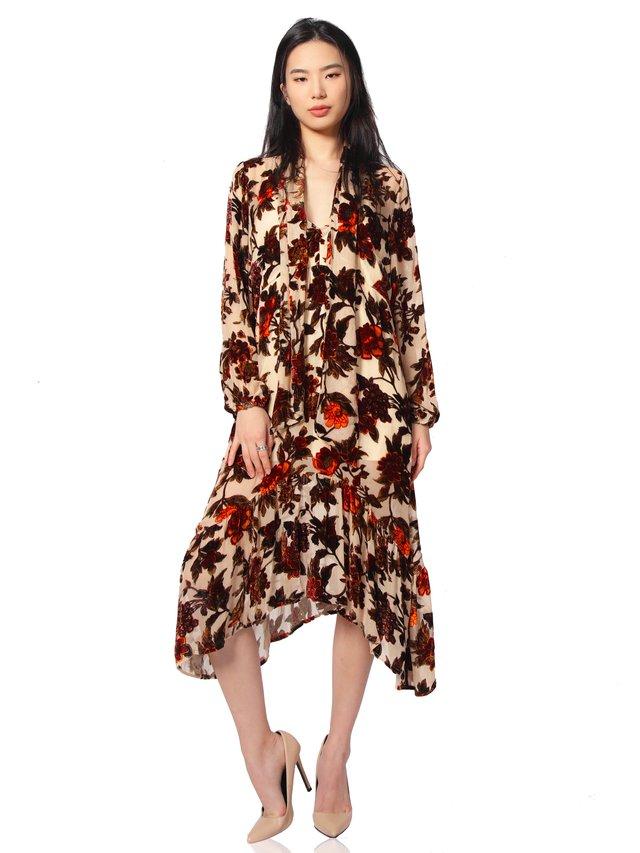 Duchess of Anarchy Hollywood Scarf Midi Dress