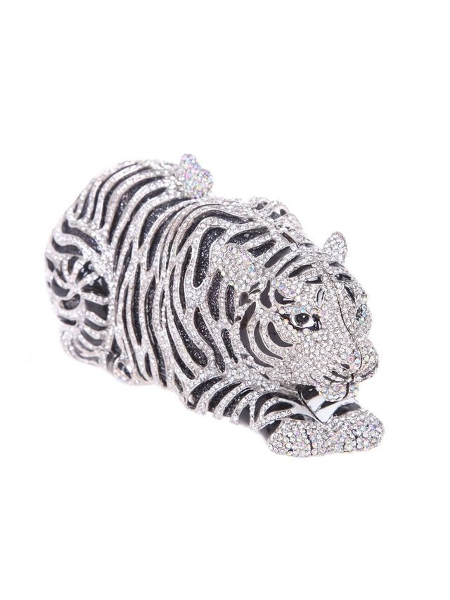 Milanblocks Tiger Rhinestone Evening Clutch