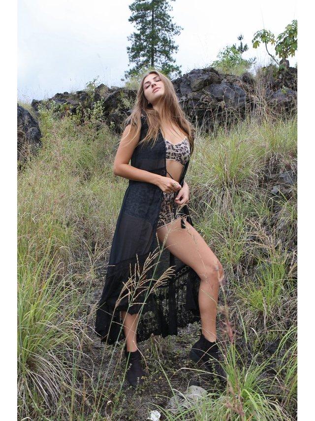 Tulle & Batiste Fairy Love Coat Black