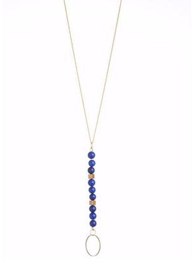 Monoxide Style Circle Bright Necklace - Blue Lapis