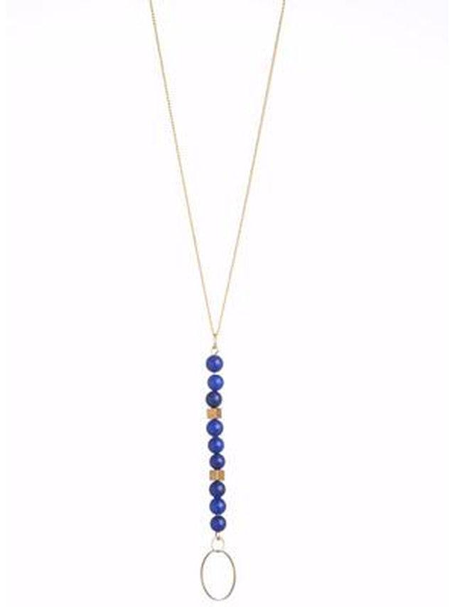 Monoxide Style Circle Bright Necklace - Blue Lapis