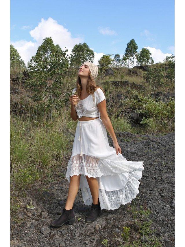 Tulle & Batiste Fairy Love Maxi Skirt Offwhite