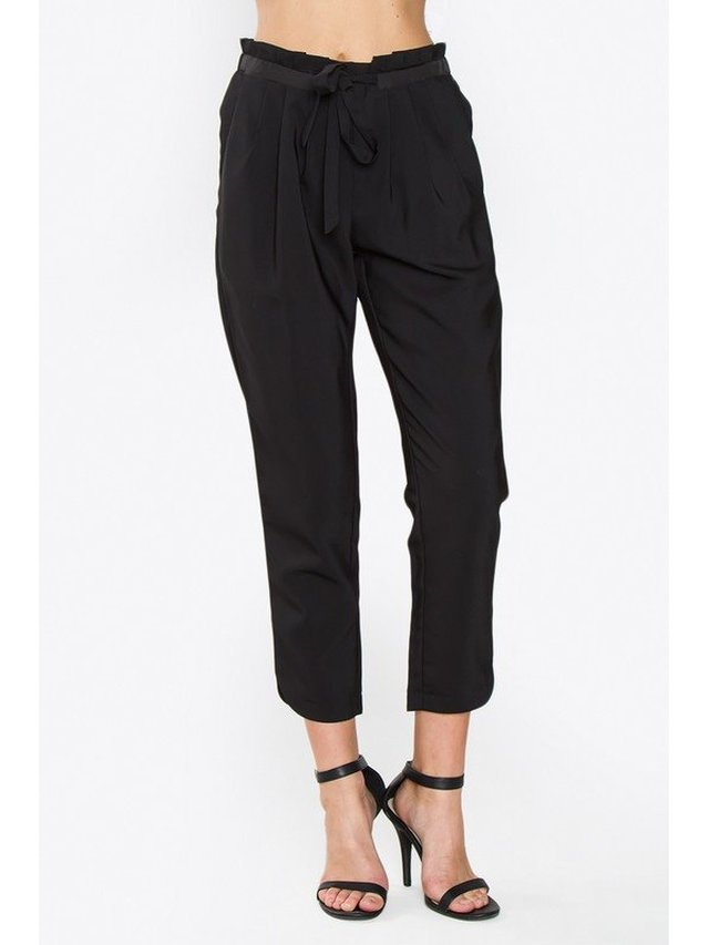 Arcade Attire Pleated Trouser Pants - Black