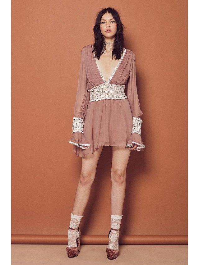 For Love & Lemons Sabine Mini Dress