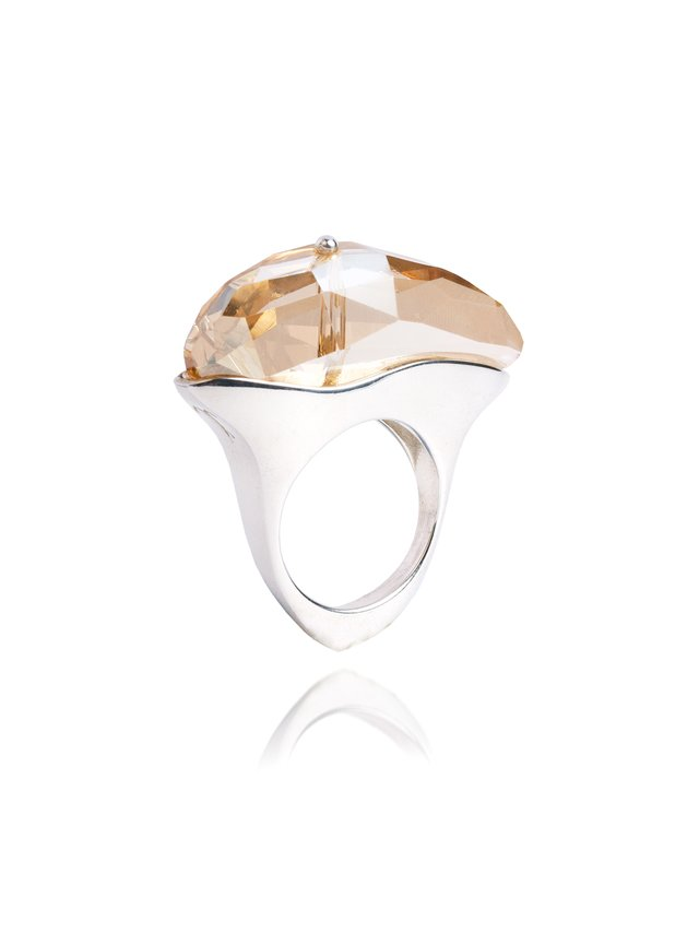 Ternary London DEEP ILLUSION SWAROVSKI & STERLING SILVER RING