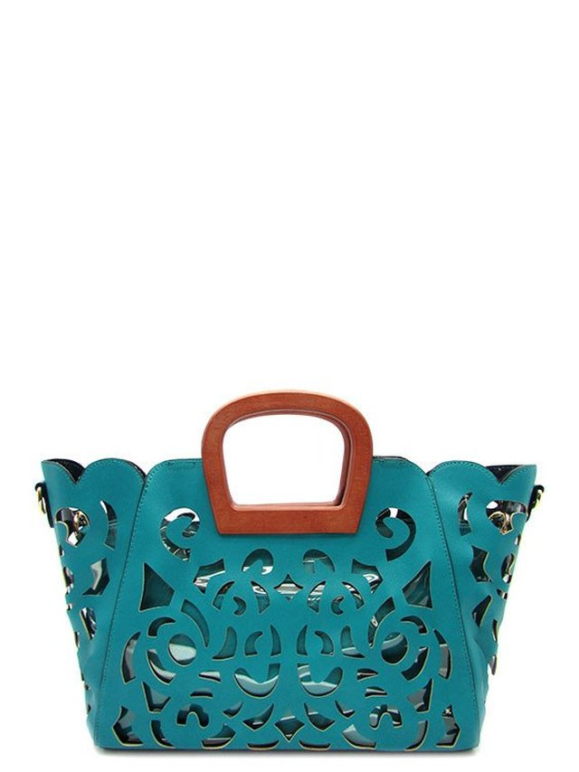 Arcade Attire Laser Cut Tote Bag 2 In 1 - Turquoise