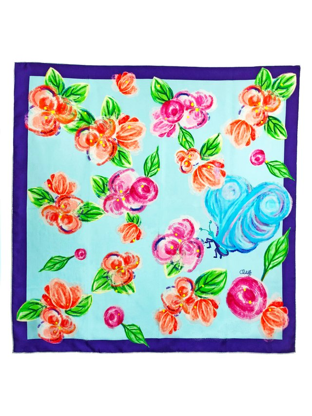 CHRITIFF Loving Viva Scarf (Sky Blue) 70cm