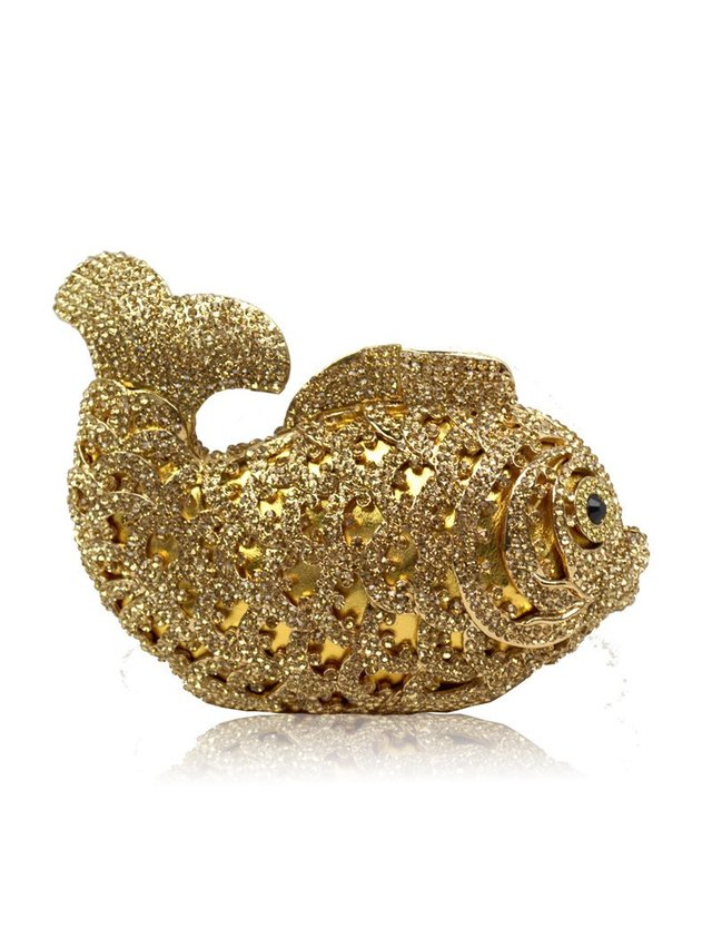 Milanblocks Koi Fish Crystal Evening Clutch
