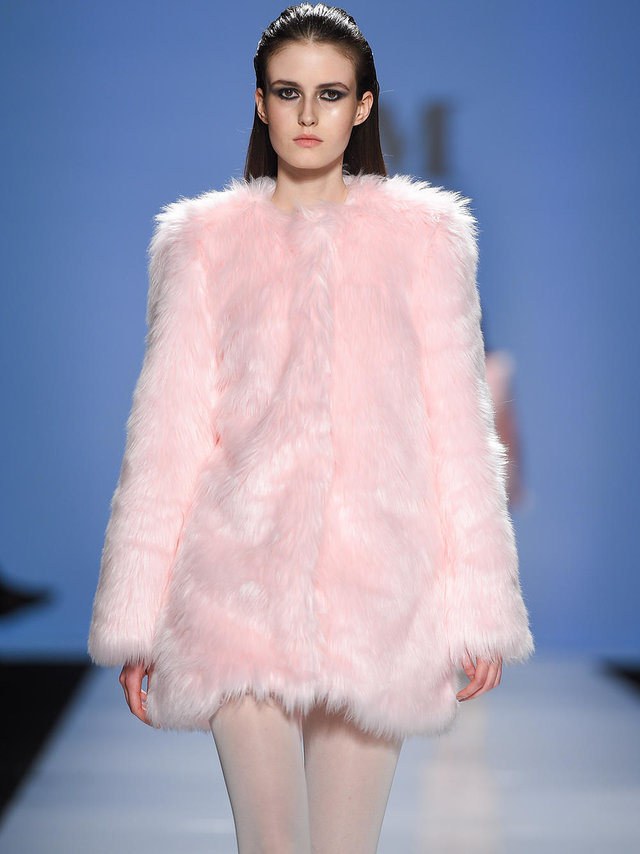 Hilary MacMillan Faux Fur Coat