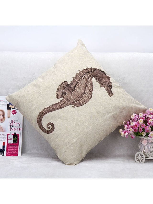 Arcade Attire Tropical Seahorse Cushion Cover