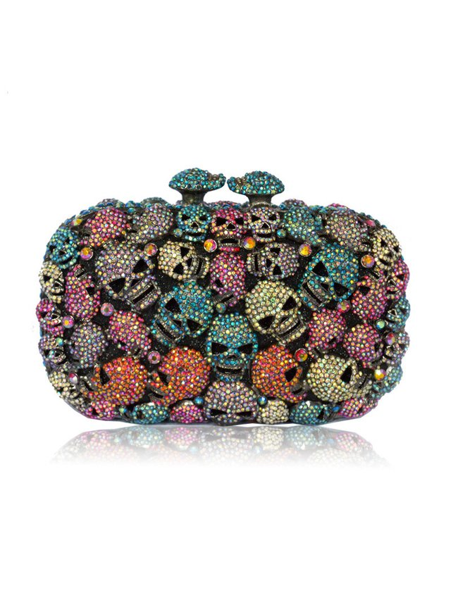 Milanblocks Skull Crystal Evening Cutch